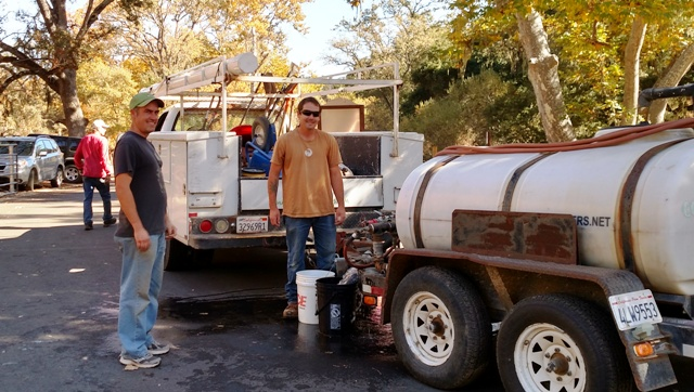 The water wagon - thanks to Madrone Landscapes!