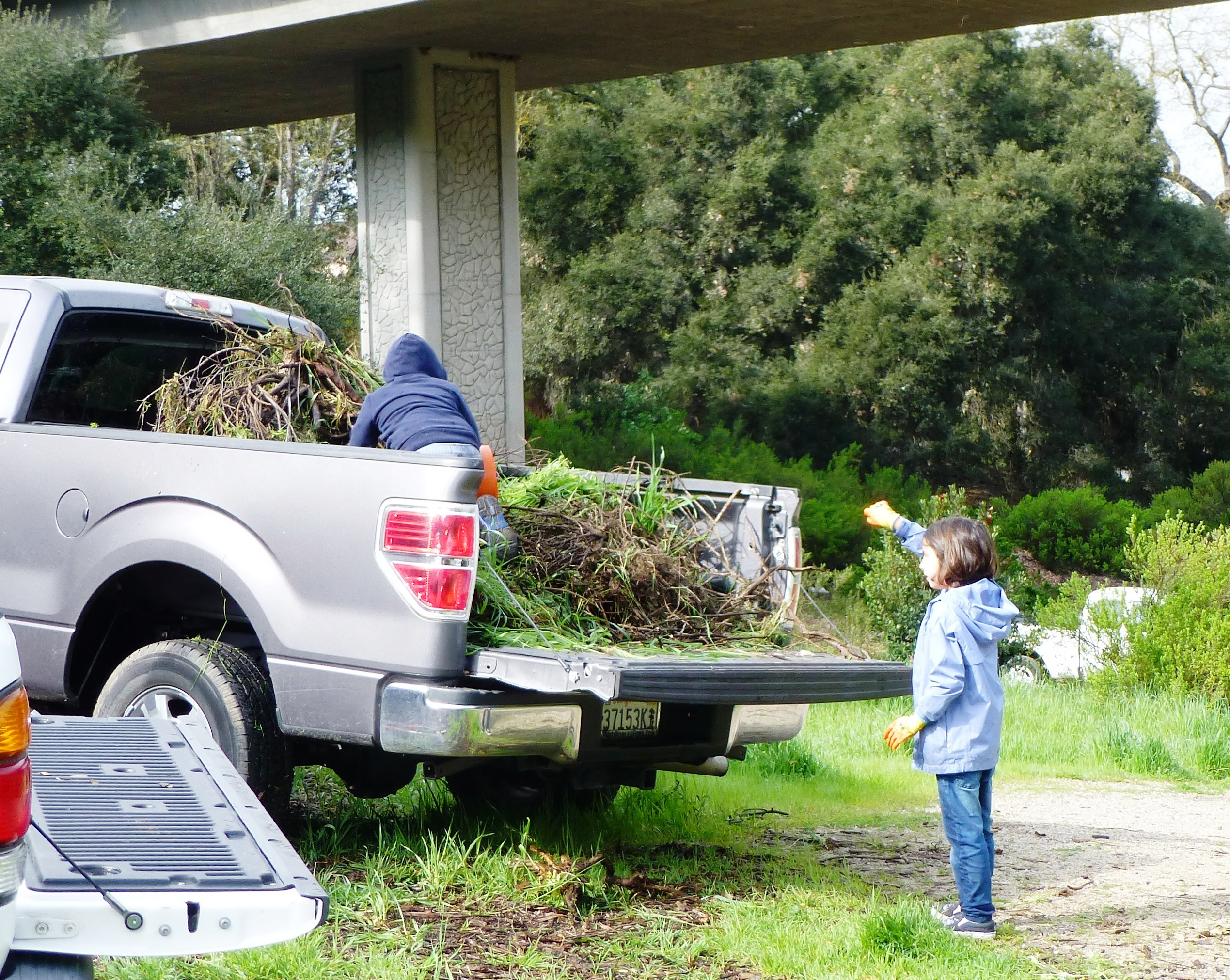 Atascadero Helpers load weeds into the truck!