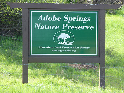 Adobe Springs Sign